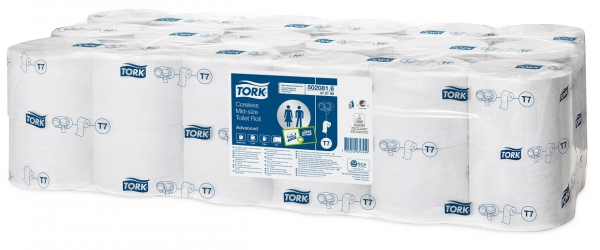 Toiletpapier Tork Compact Coreless Mid-Size Advanced 900v. 2lg. T7