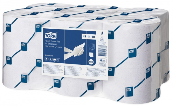 Handdoekrollen Tork EnMotion 24,7cm Advanced Wit 2-laags H13