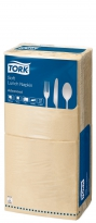 Servetten Tork Dinner Advanced 39x39cm Biscuit  2lg. 4-vouw
