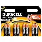 Duracell Batterijen Plus Power AA LR6 MN1500 Geel