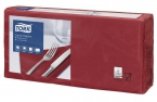 Servetten Tork Lunch Advanced 33x33cm Burgundy red 2lg. 4-vouw