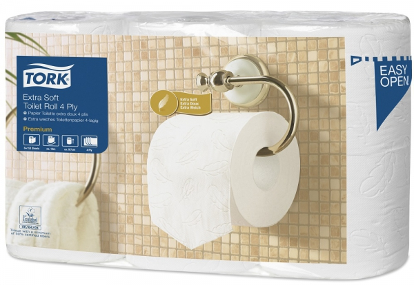 Toiletpapier Tork Extra Soft Conventional Toilet Roll 153-vellen 4-laags T4