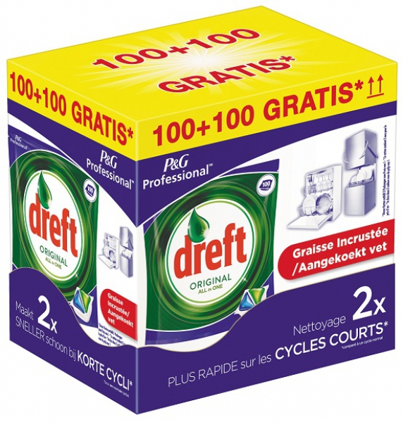 Dreft All in One Original Vaatwastabletten Promo Pakket